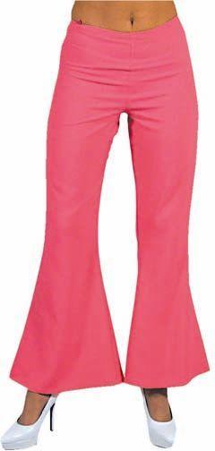 Roze hippie broek dames