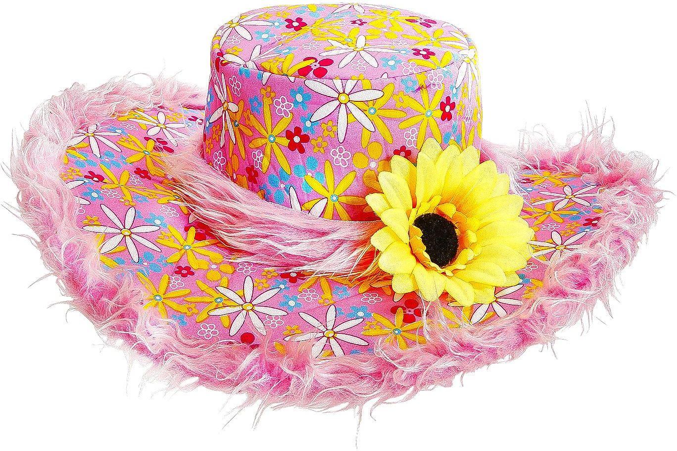 Roze hippie hoed