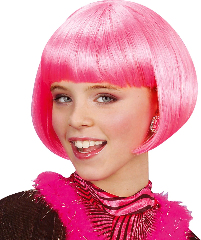 Roze Jenny pruik kind