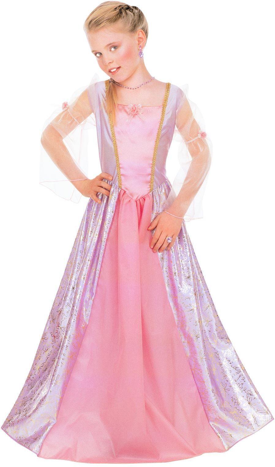 Roze lange jurk meisjes