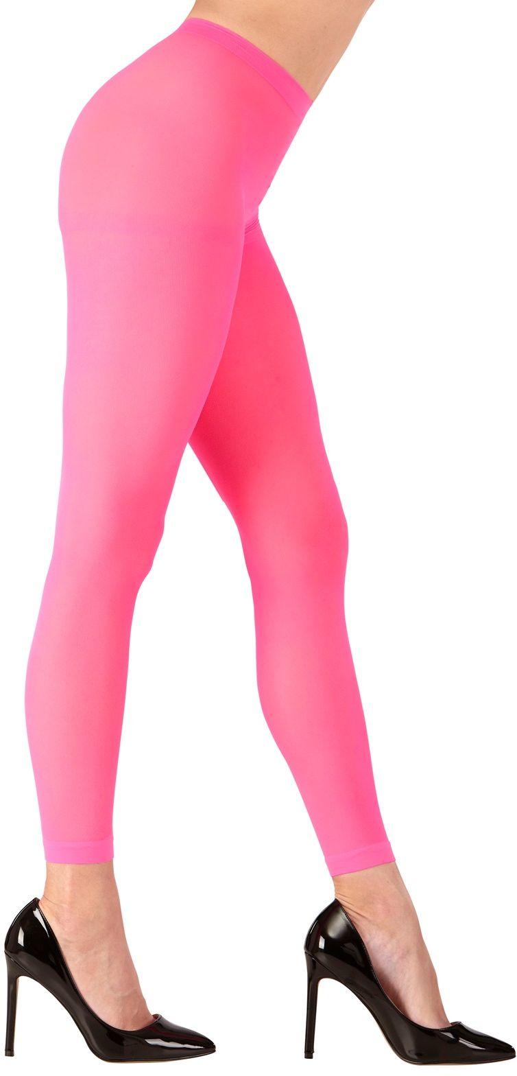 Roze neon legging One-size-volwassenen