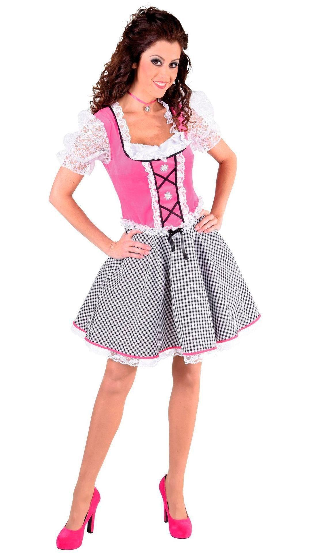 Roze oktoberfest jurkje vrouwen