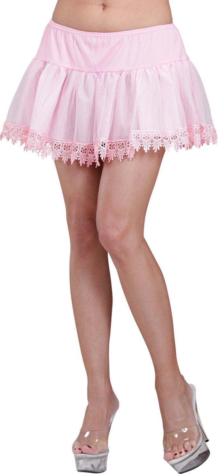 Roze onderrok met versiering