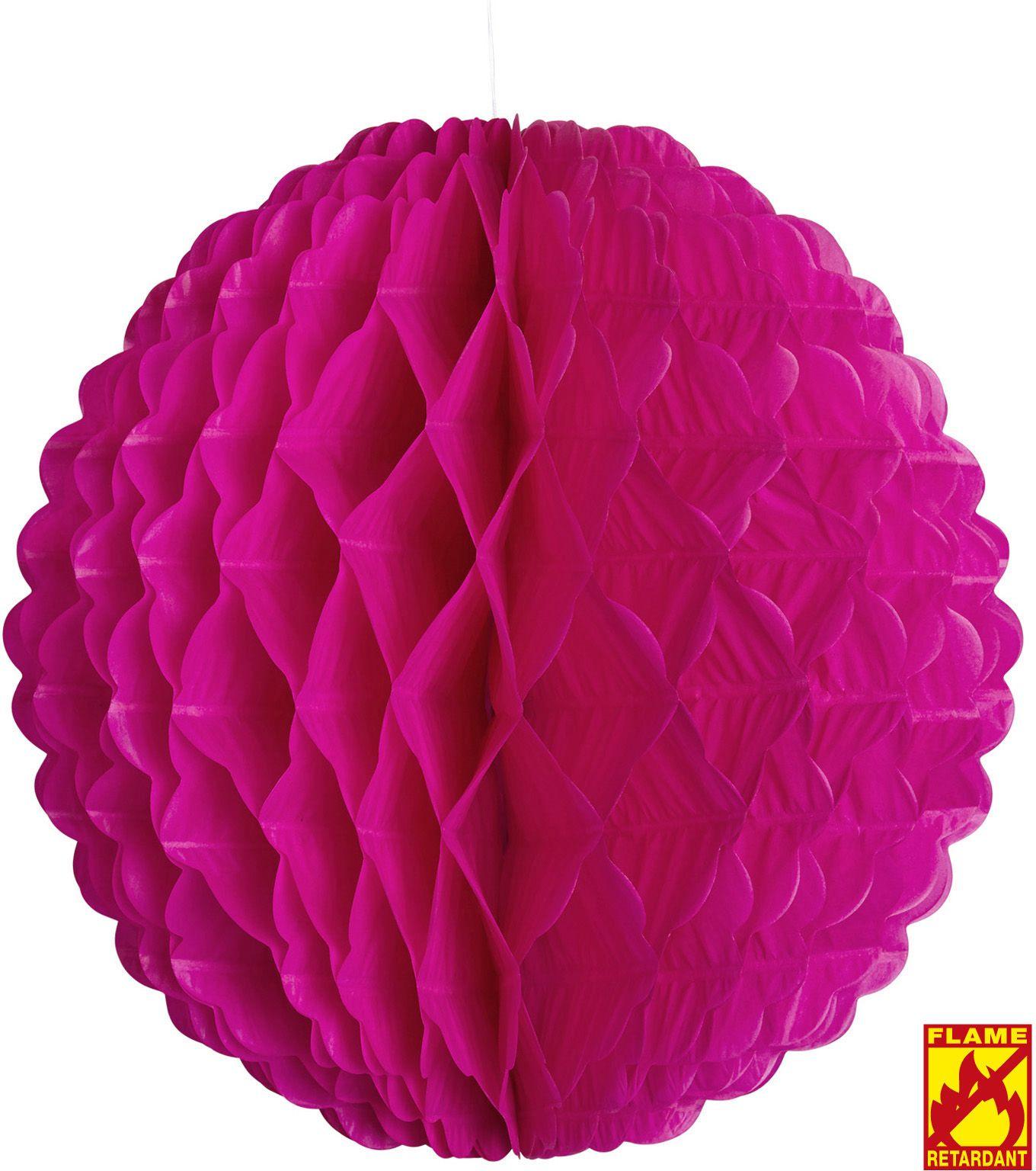 Roze papieren bal