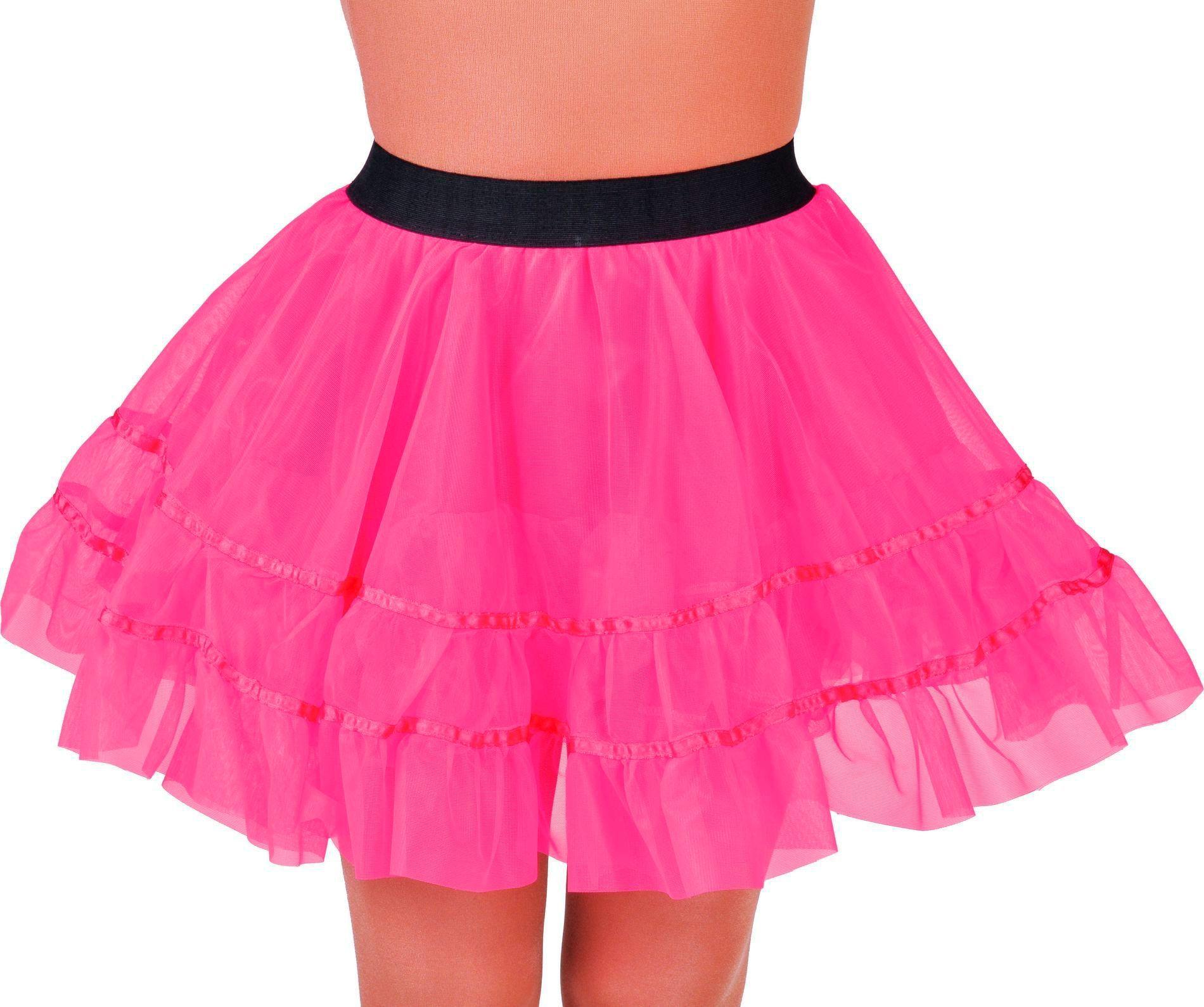 Roze petticoat rok