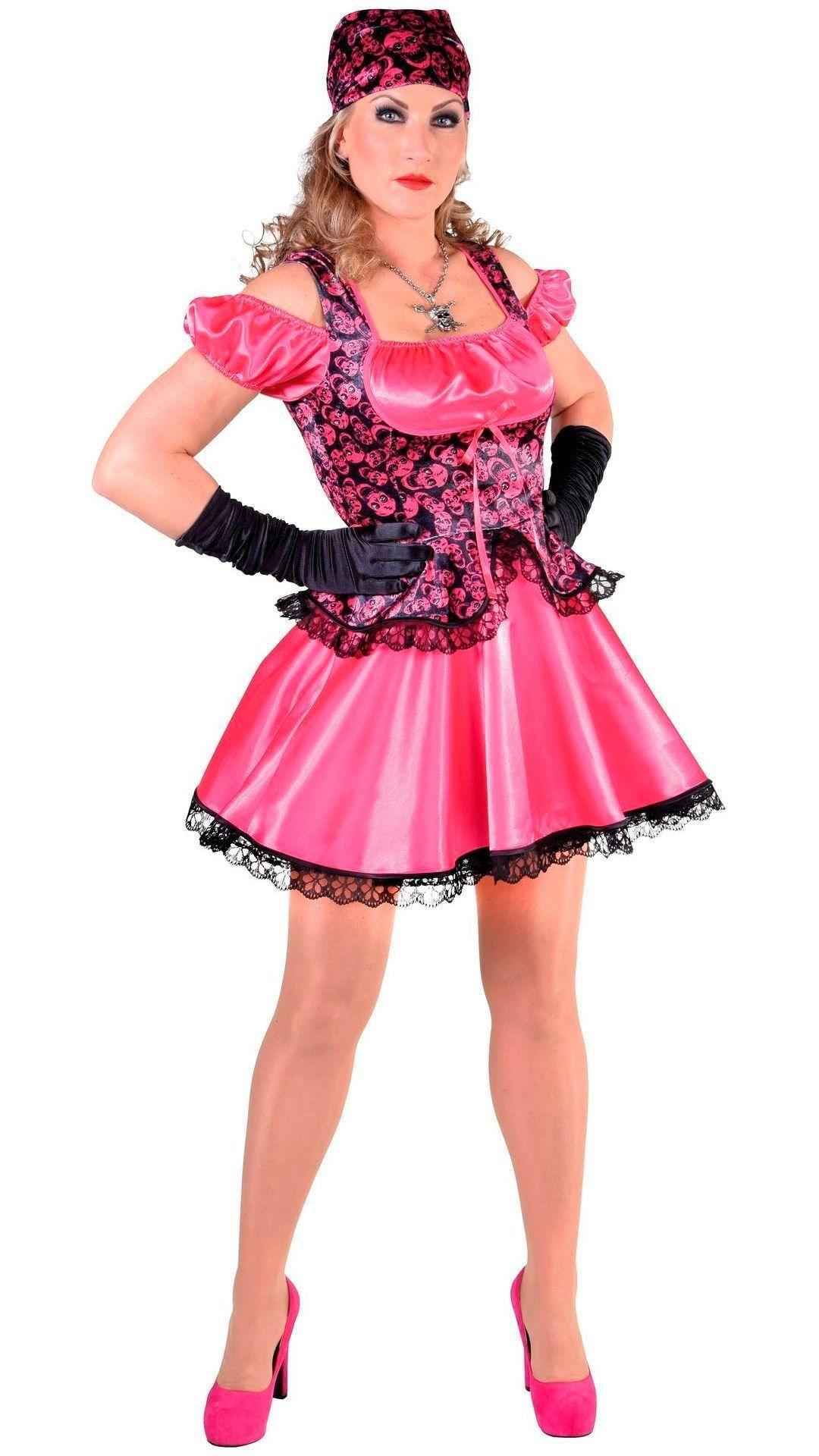 Roze piraten jurkje dames