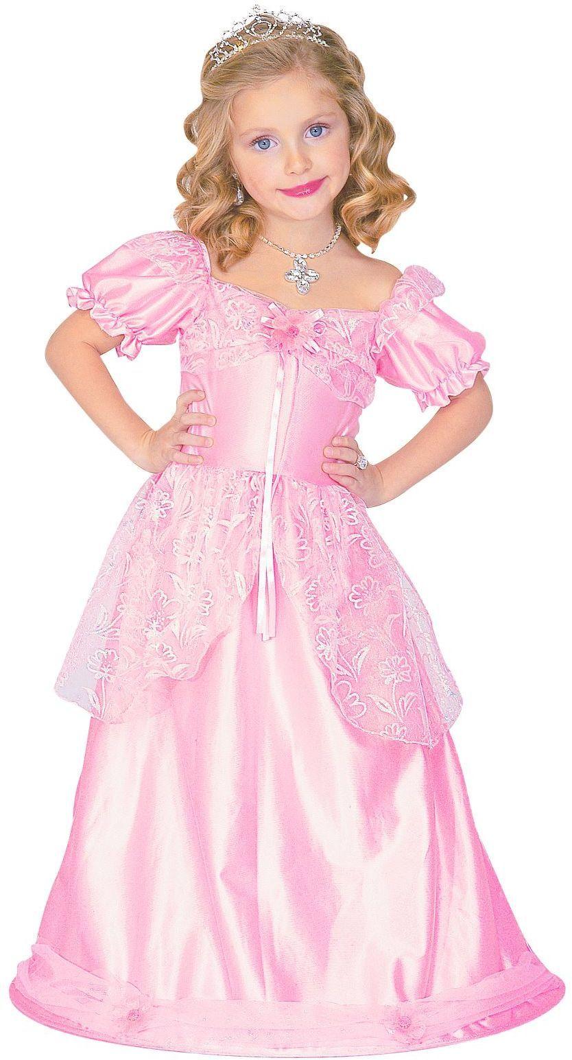 Roze prinsessen jurk lang
