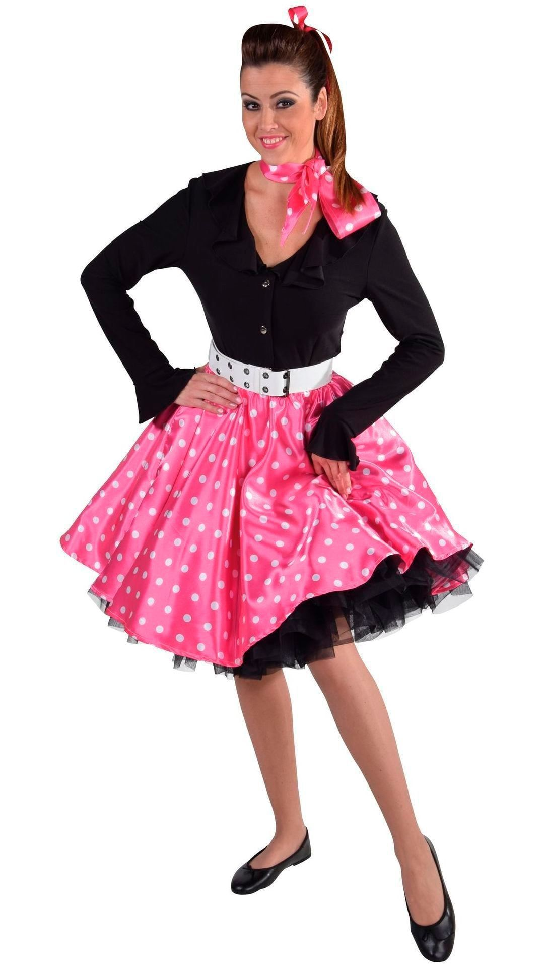 Roze Rock en Roll rok dames