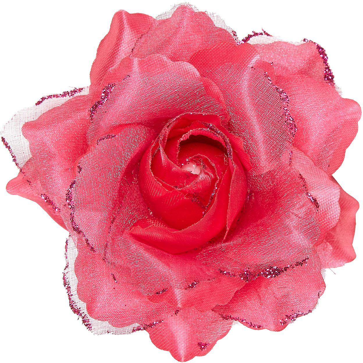 Roze roos haarspeld