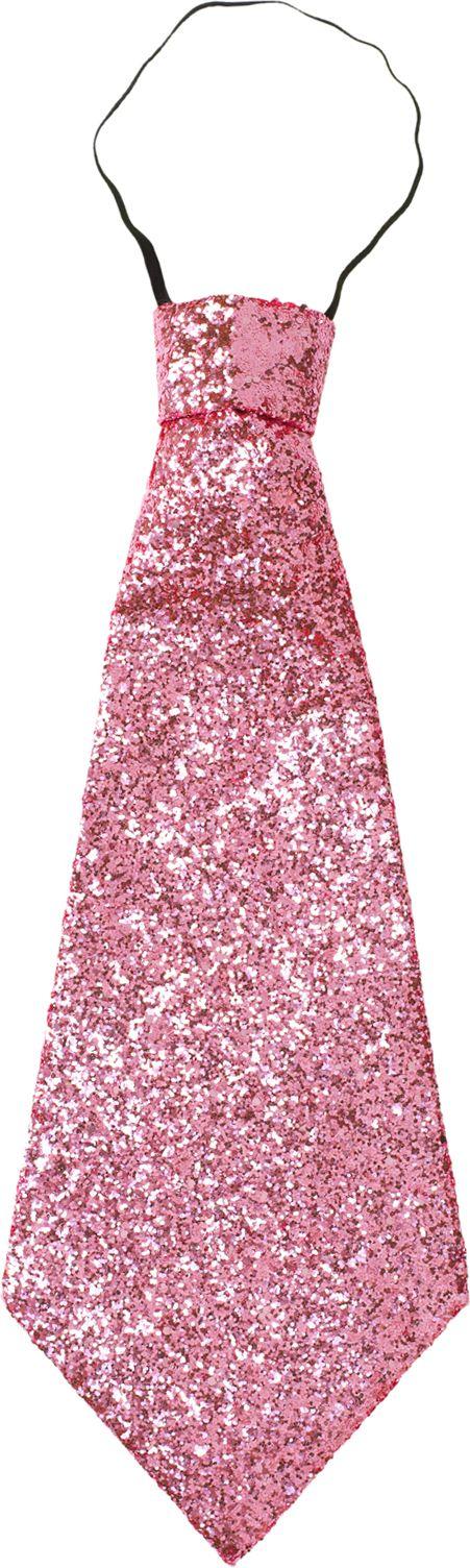 Roze stropdas glitter