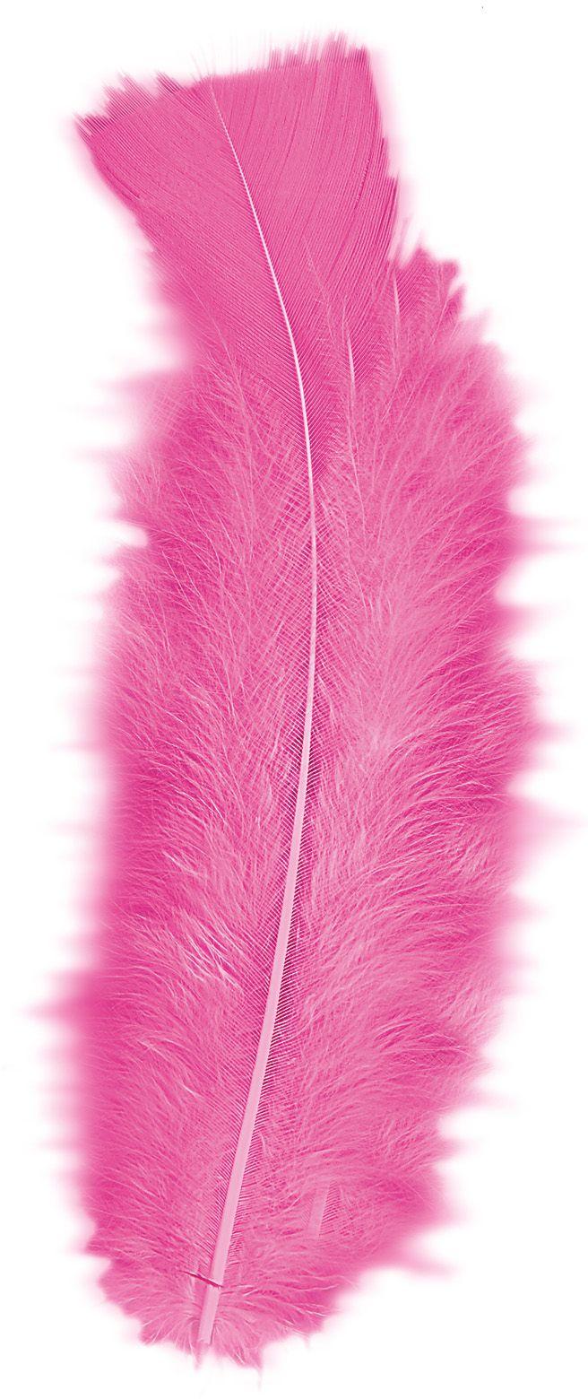 Roze veren 50 stuks