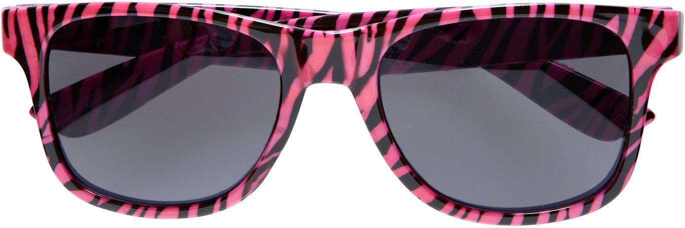 Roze zebra print bril