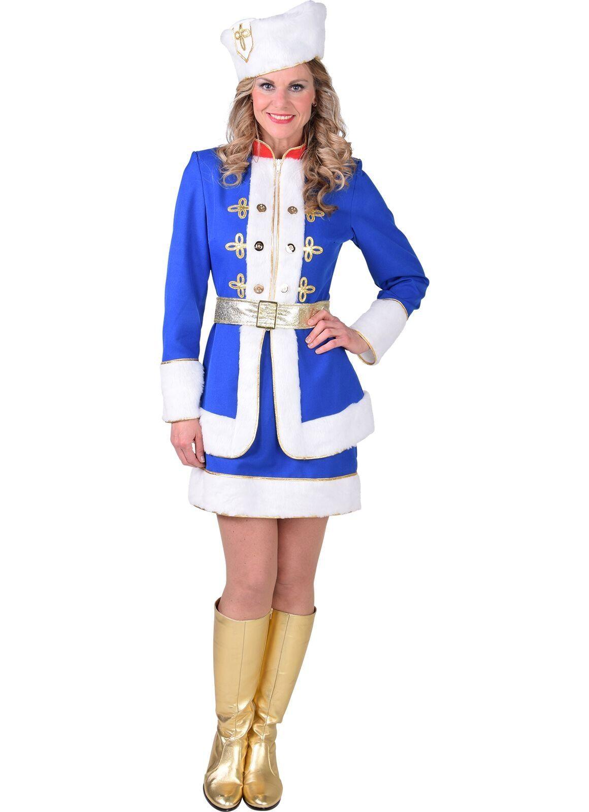 Russisch carnavals outfit blauw vrouwen