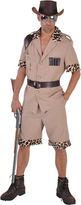 Safari kostuum mannen bruin