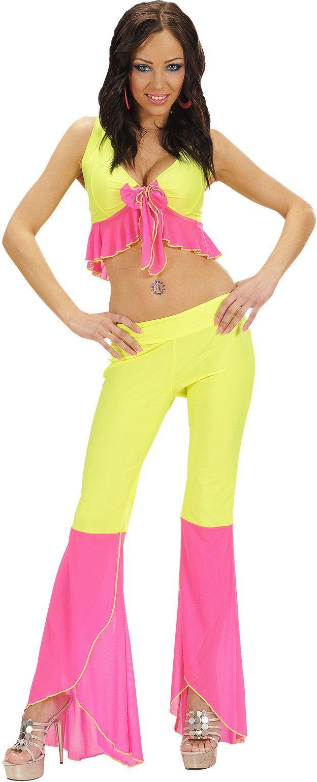 Samba kleding geel/roze
