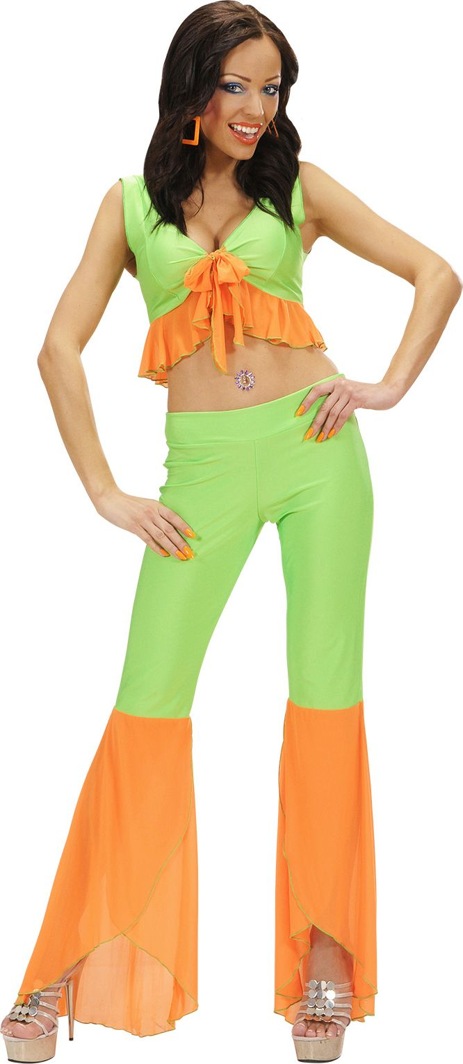 Samba kleding groen/oranje