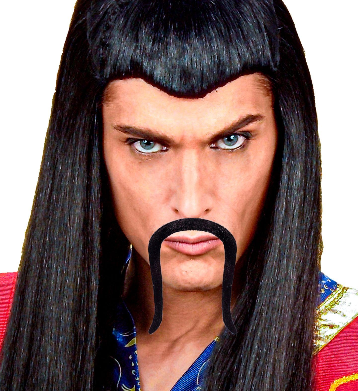 Samurai snor zwart