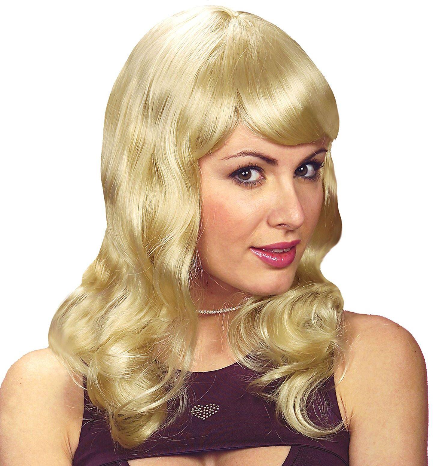 Sarah pruik blond