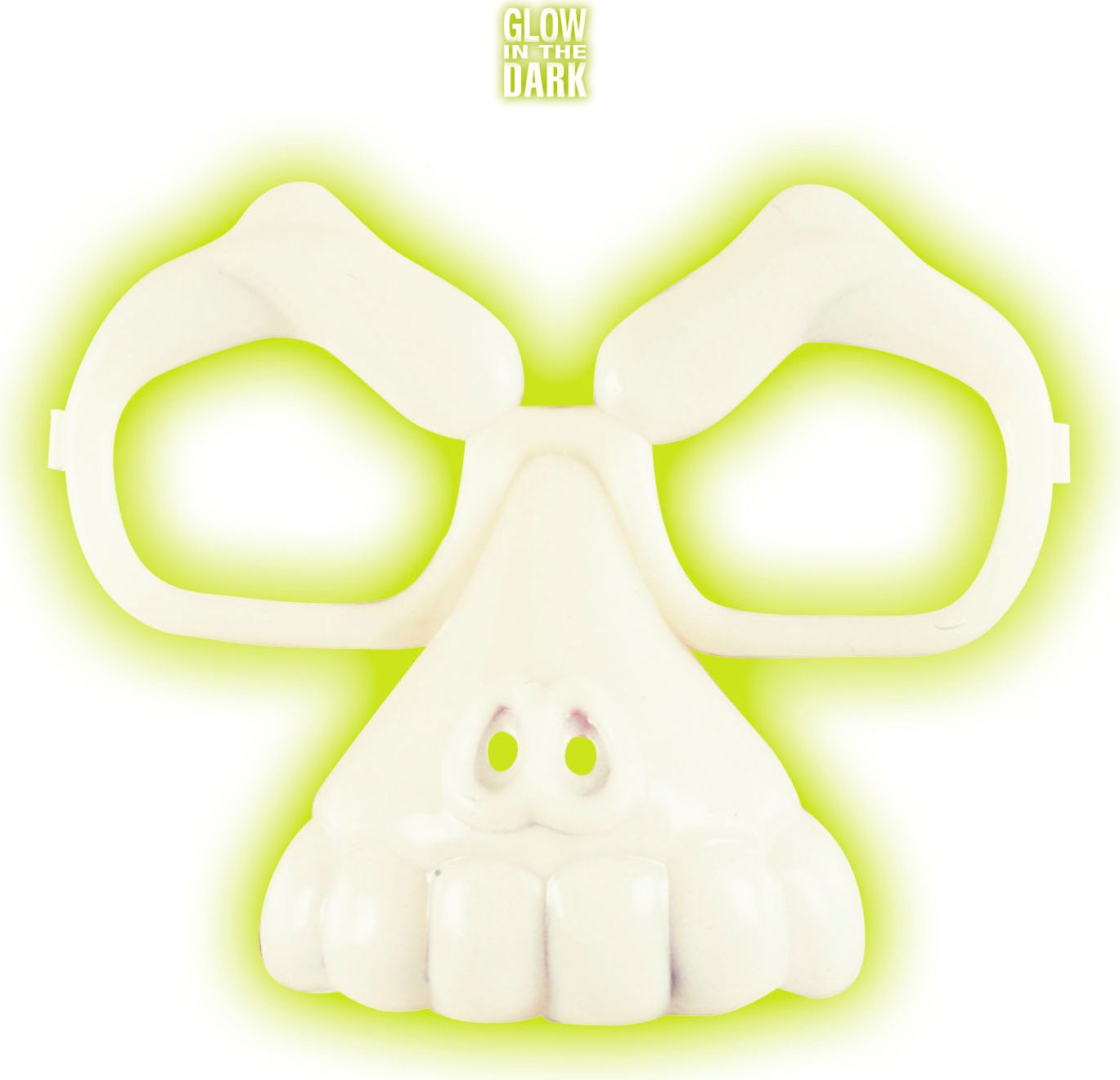 Schedel bril glow in the dark