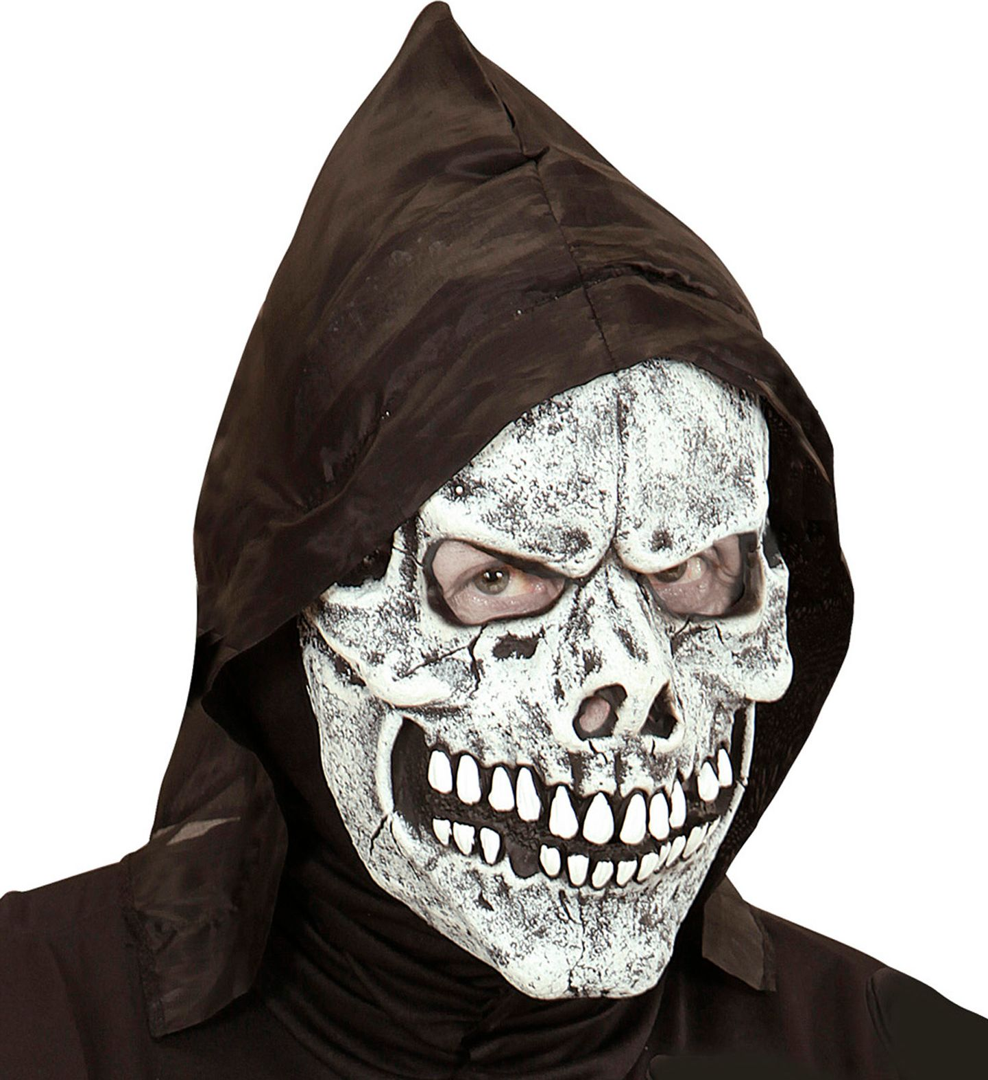 Schedel masker met capuchon