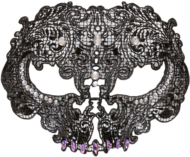 Schedel masker zwart