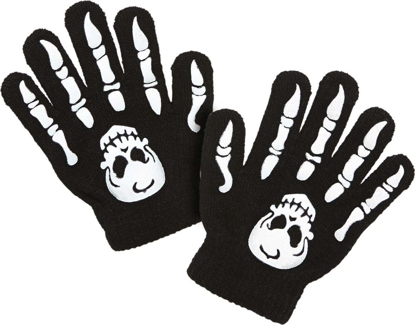 Schedel met botten handschoenen kind