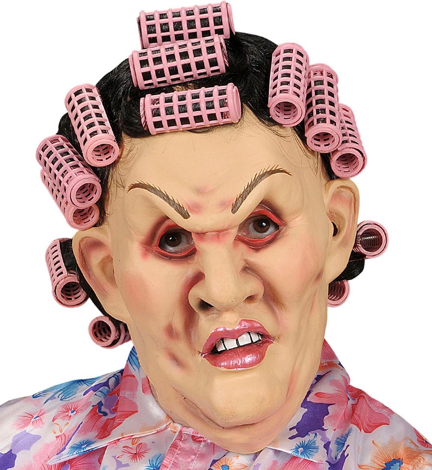 Schoonmoeder masker met haar