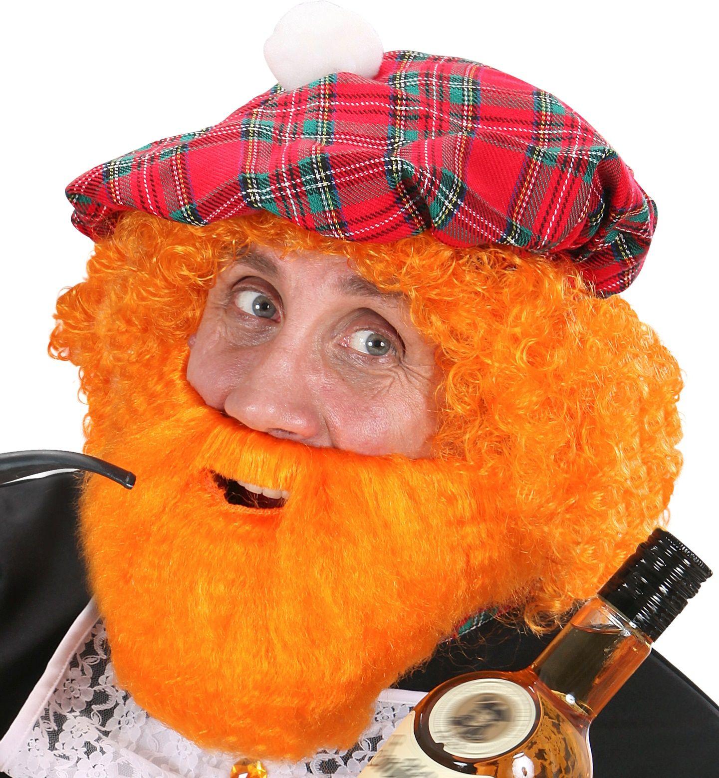 Schotse baard met snor oranje