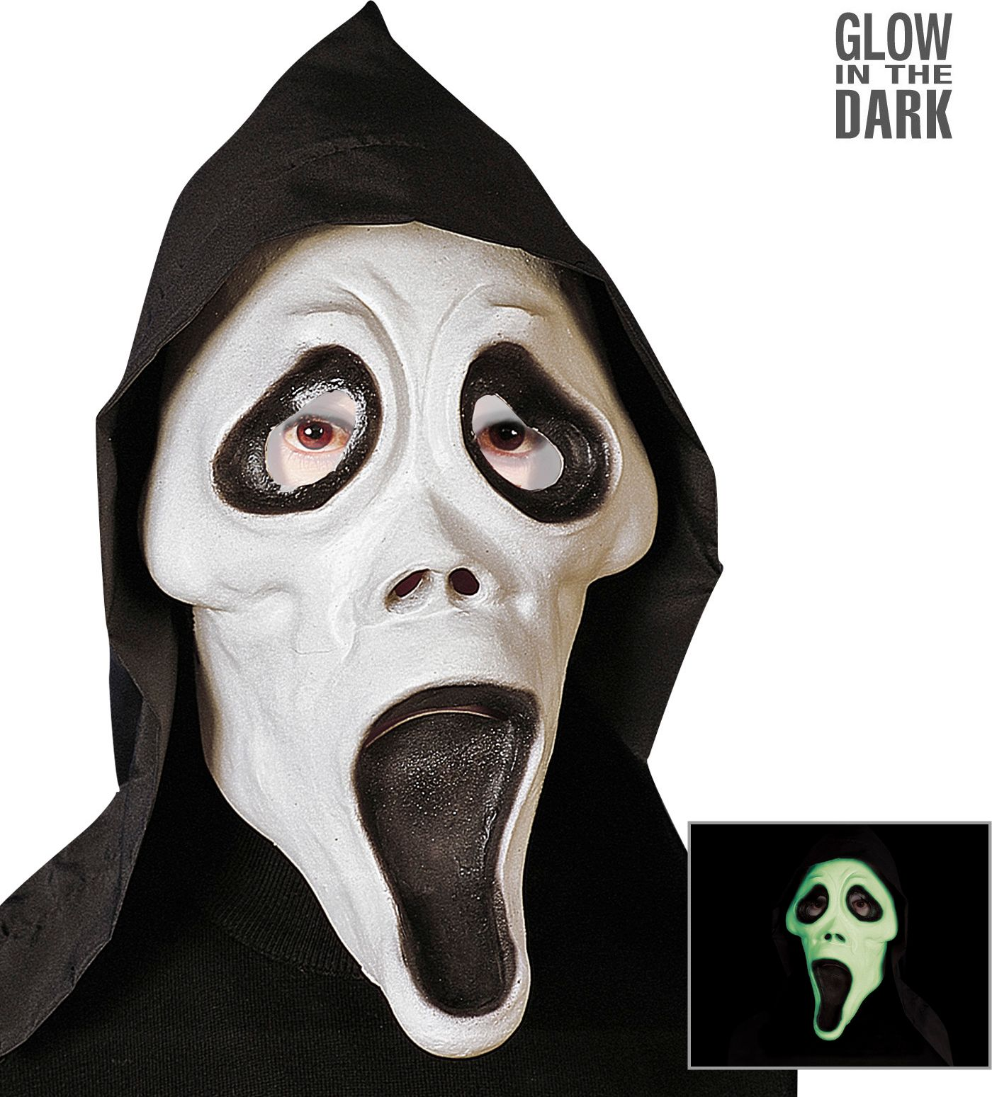 Scream masker glow in the dark