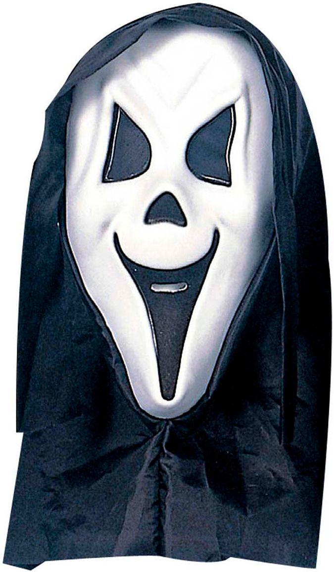 Scream masker met zwarte kap