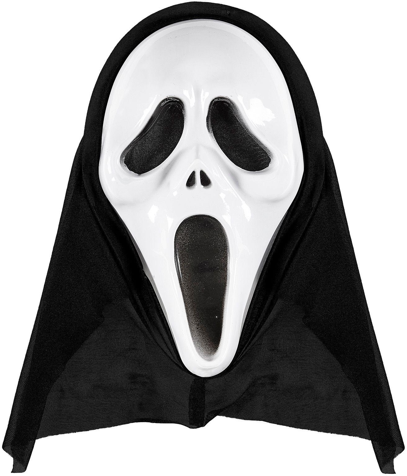 Scream masker wit
