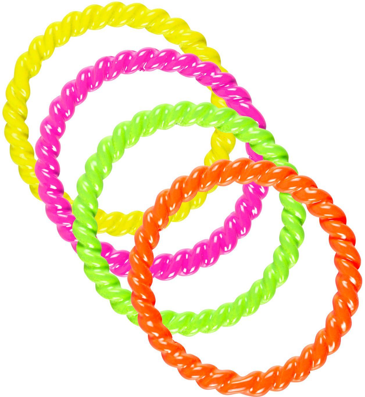 Set met 4 neon ringen