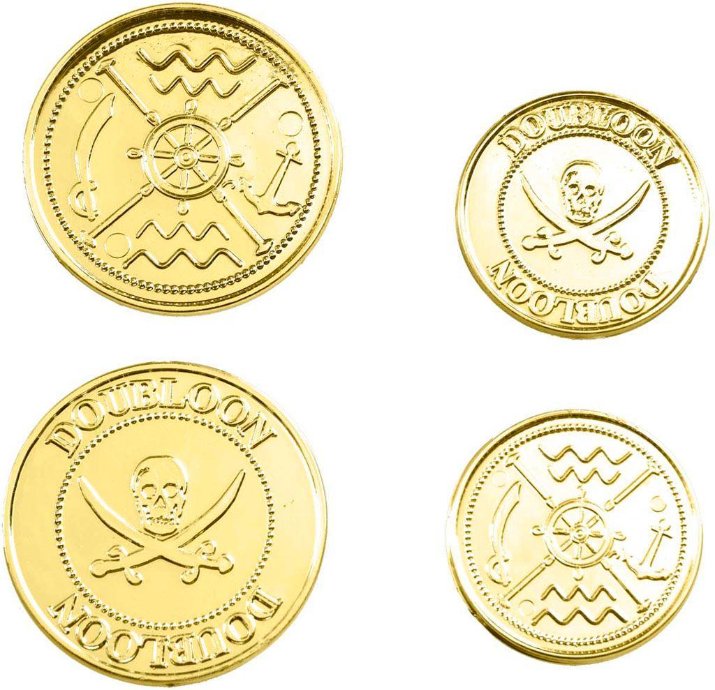 Set van 12 piraten munten