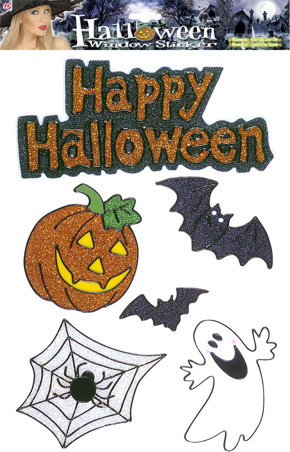 Set van 6 happy halloween raam stickers