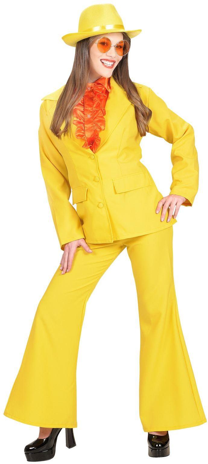 Seventies kleding dames geel