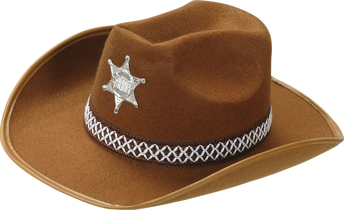 Sheriffhoed bruin kind
