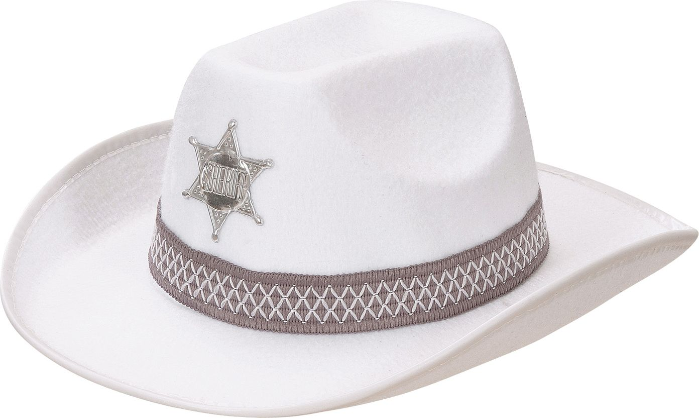 Sheriffhoed wit