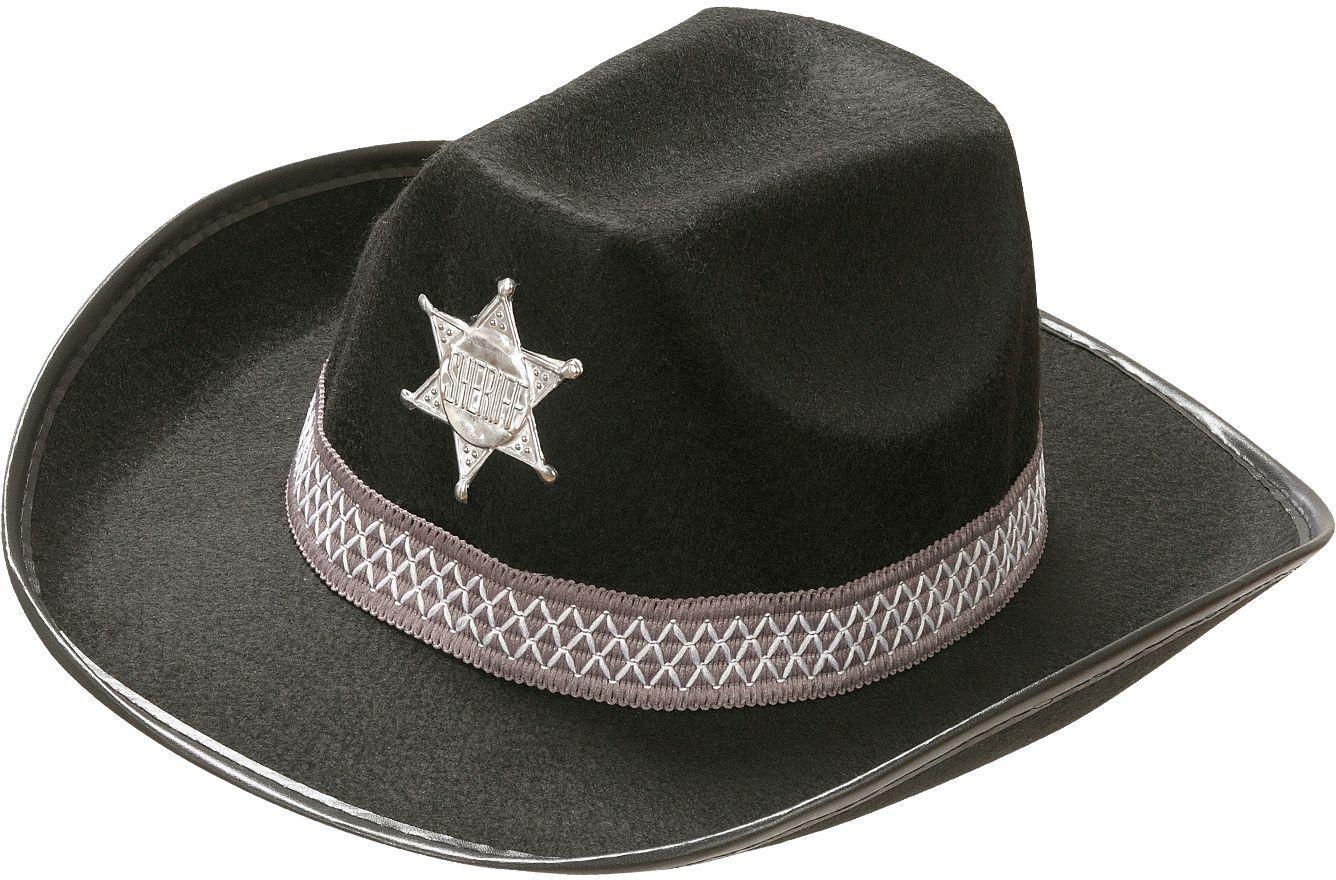 Sheriffhoed zwart
