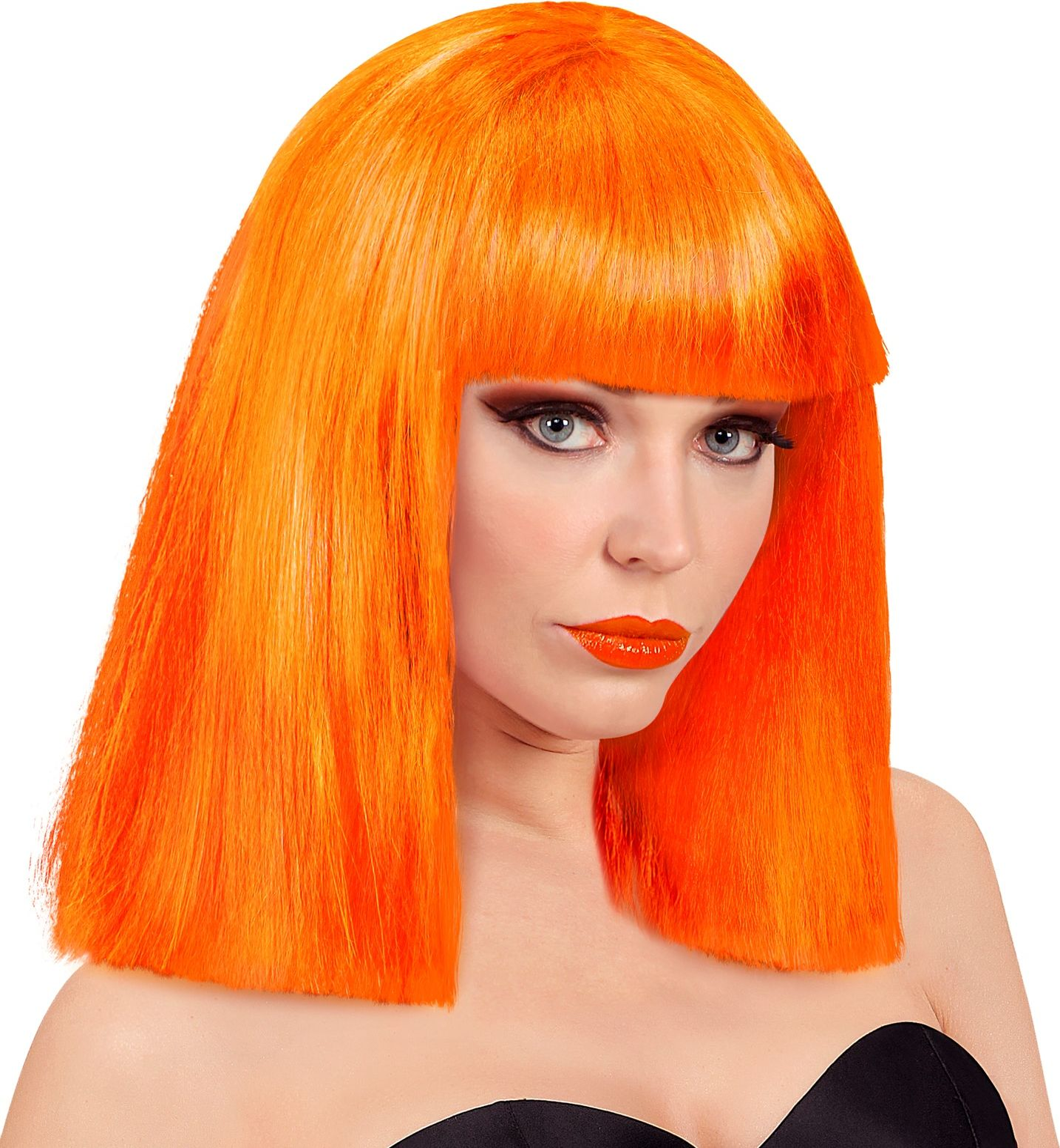 Showgirl pruik oranje