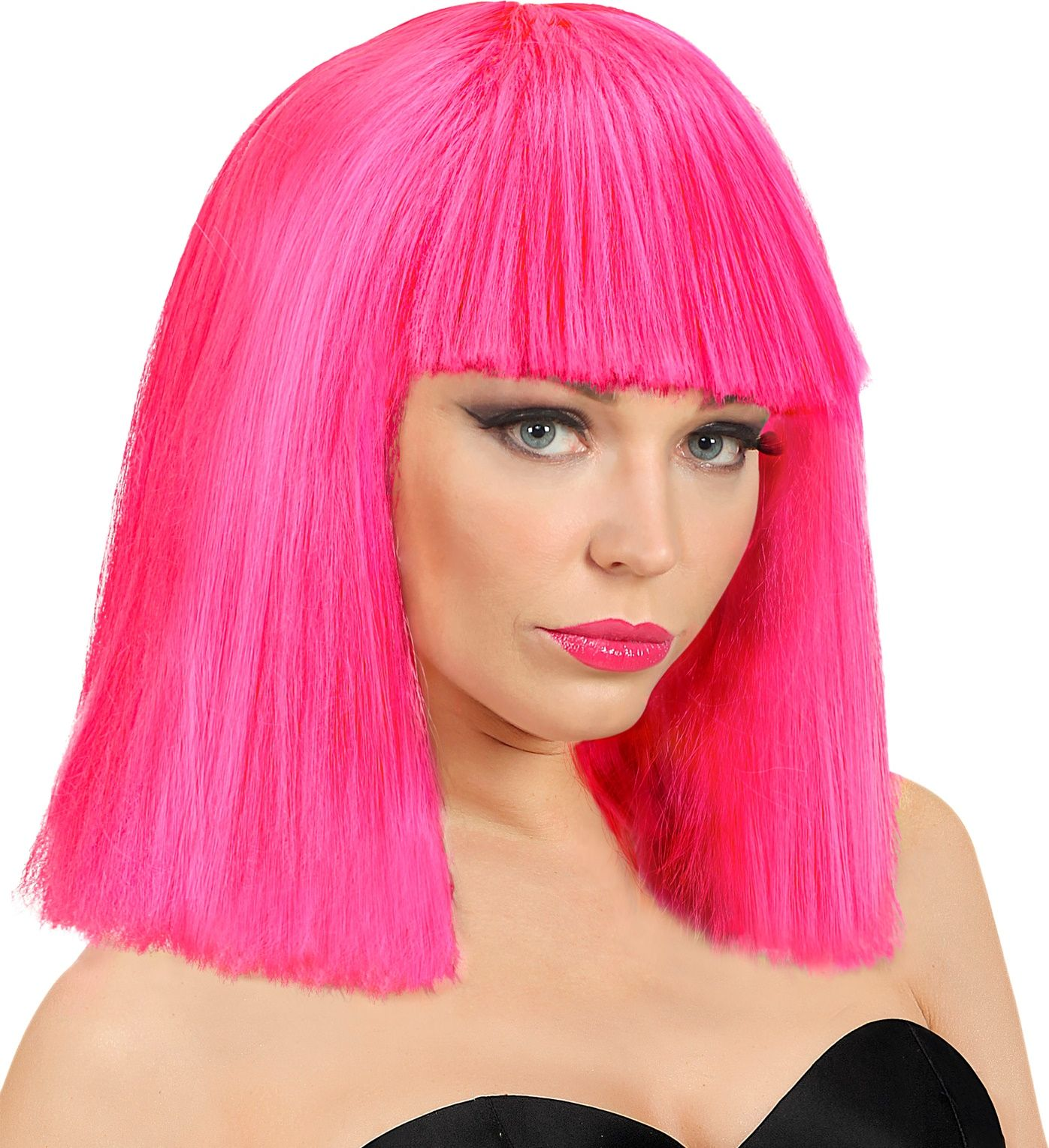 Showgirl pruik roze