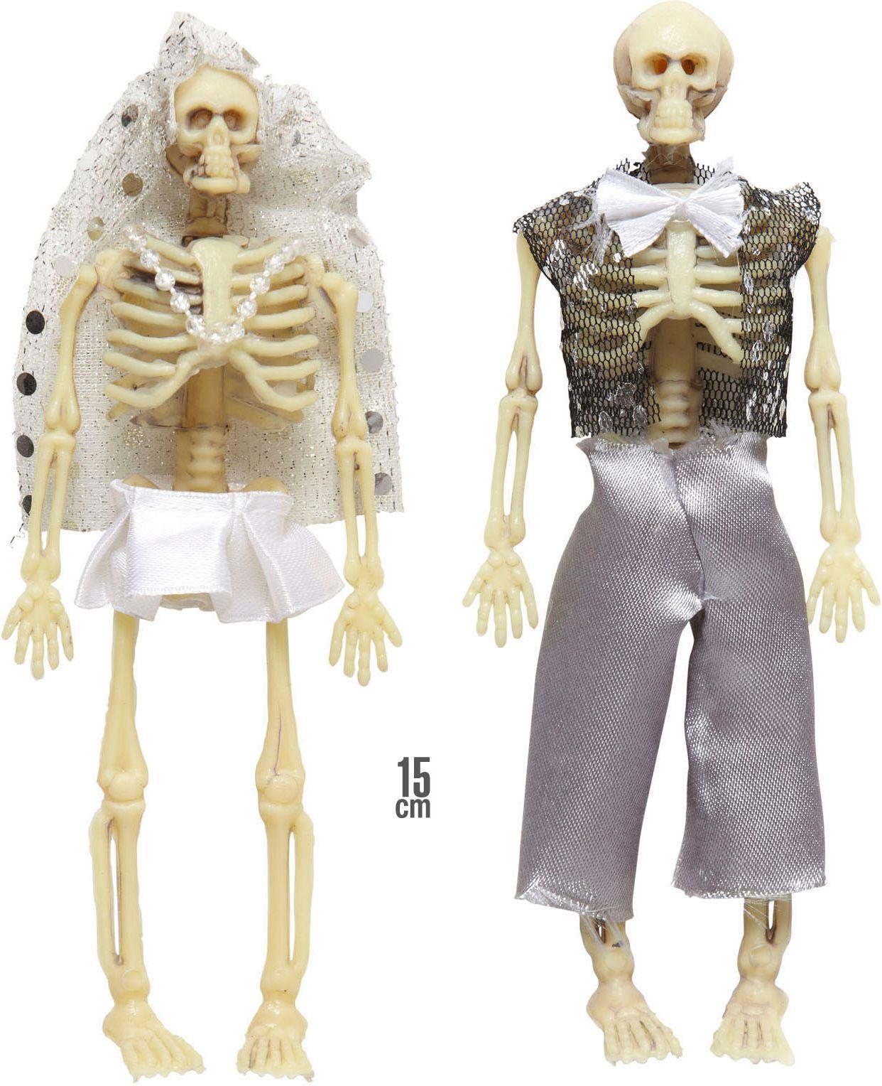 Skelet bruidspaar versiering