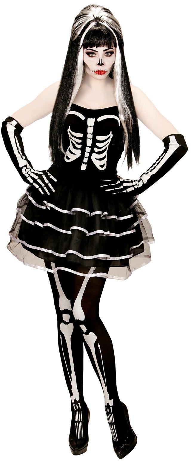 Skelet kostuum dames