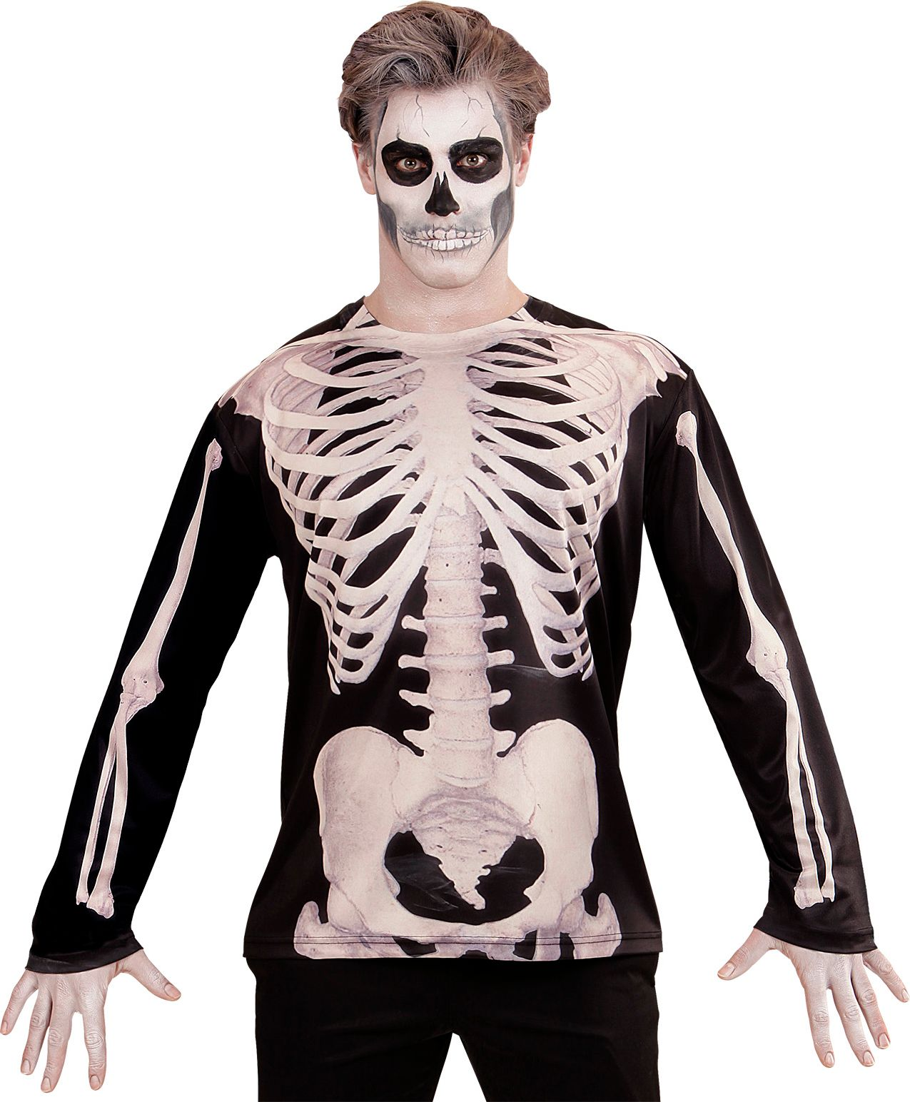 Skelet shirt halloween