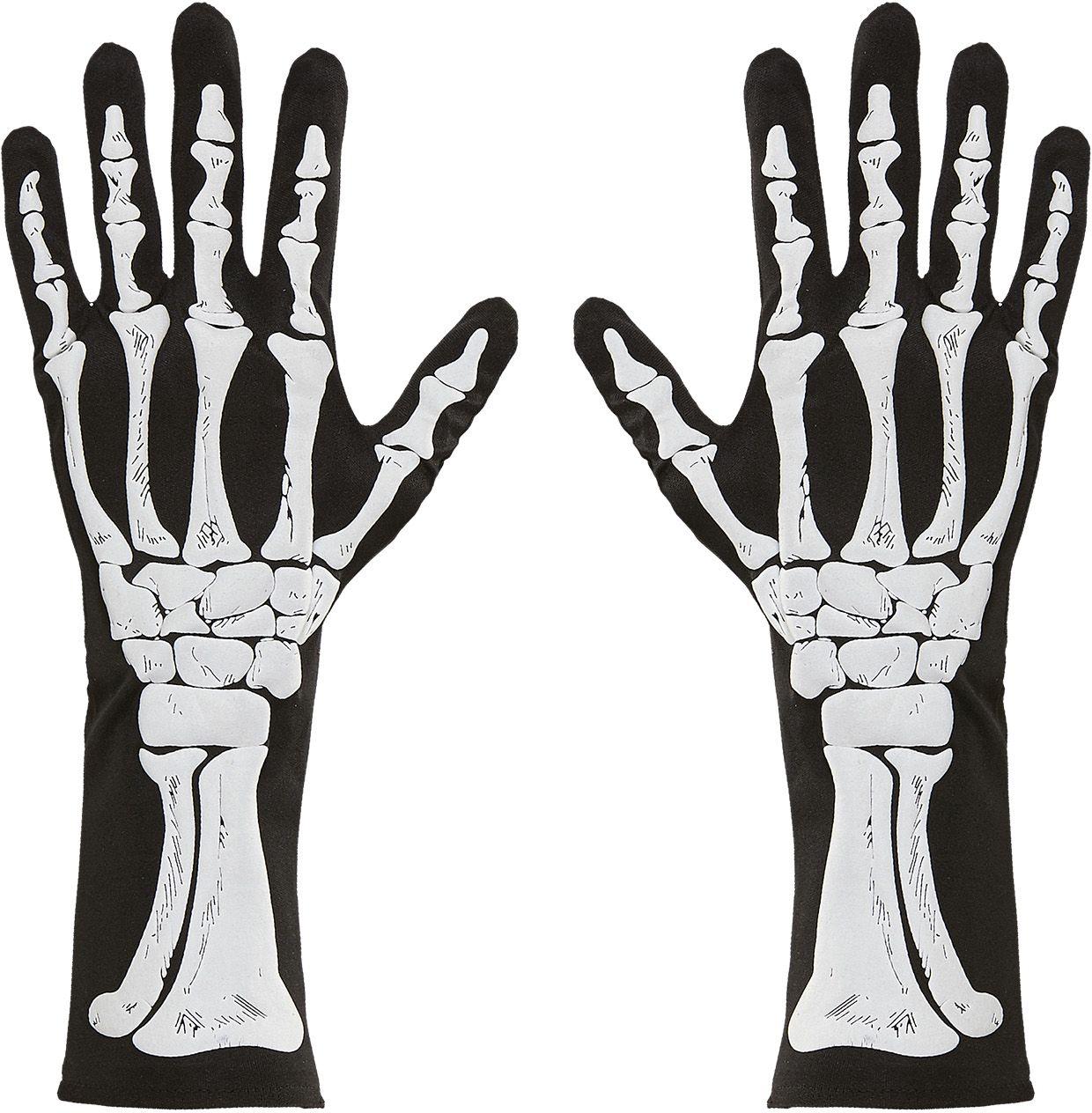 Skeletten bot handschoenen One-size-volwassenen