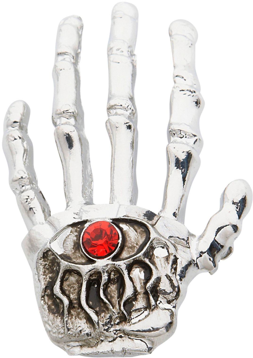 Skelettenhand broche