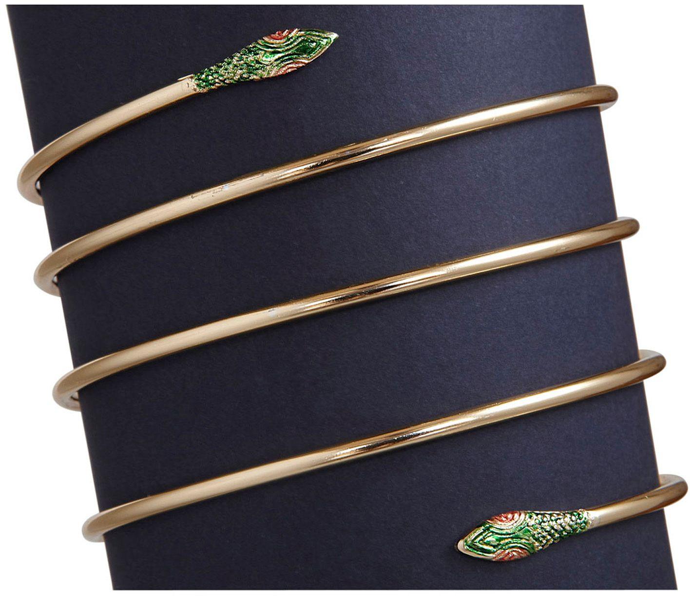 Slangen armband goud