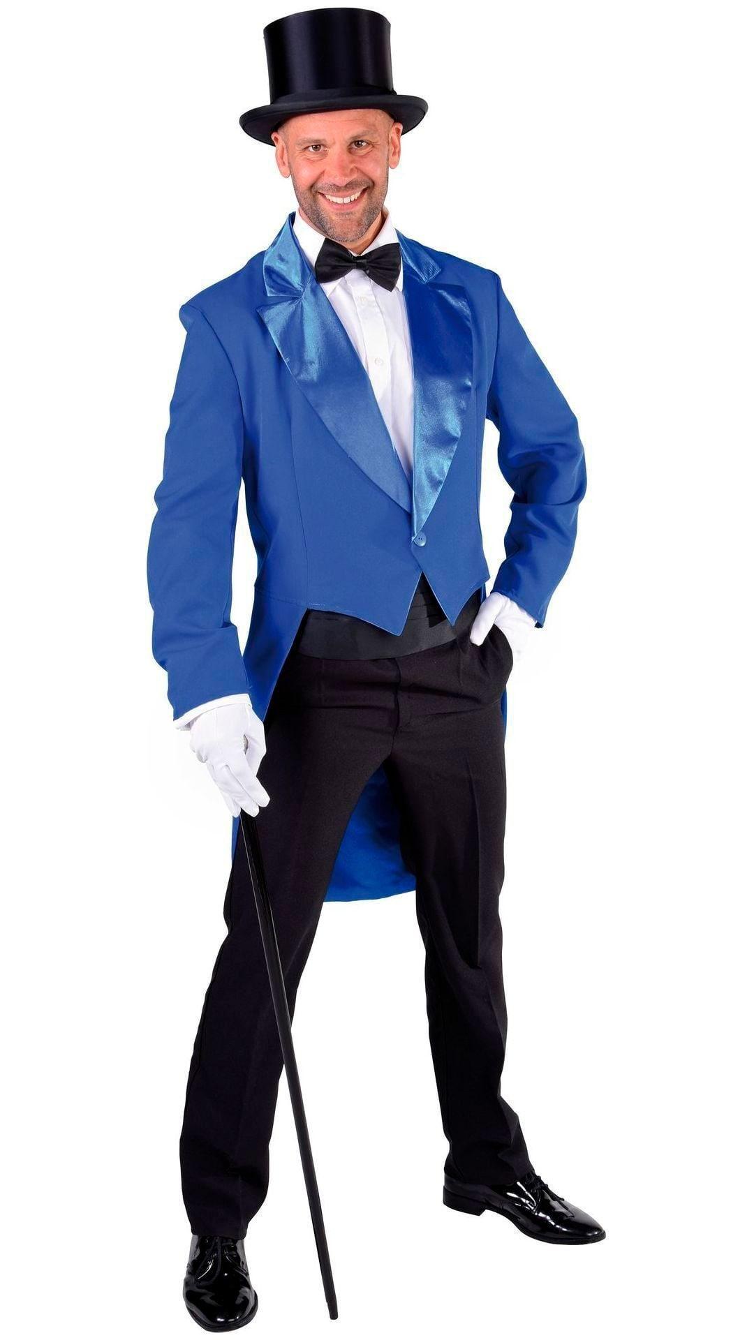 Slipjas carnaval blauw mannen