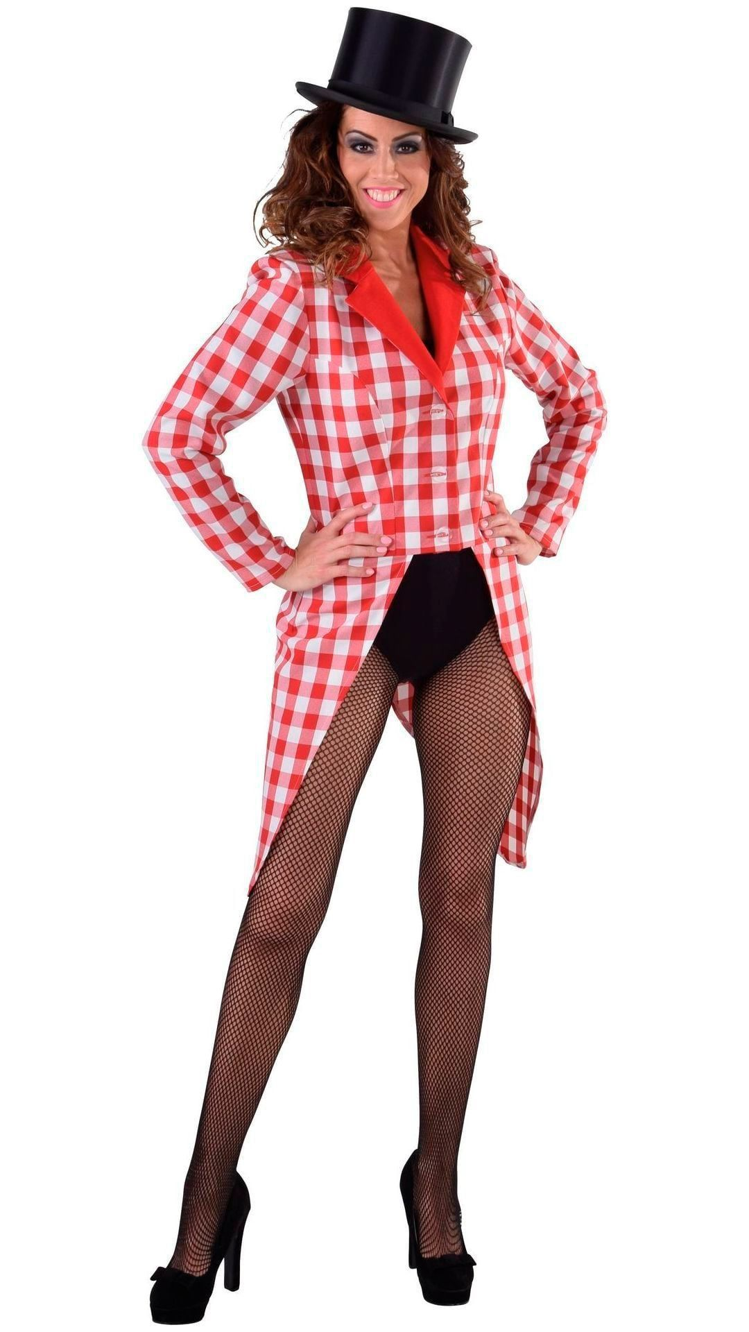 Slipjas geblokt rood vrouwen