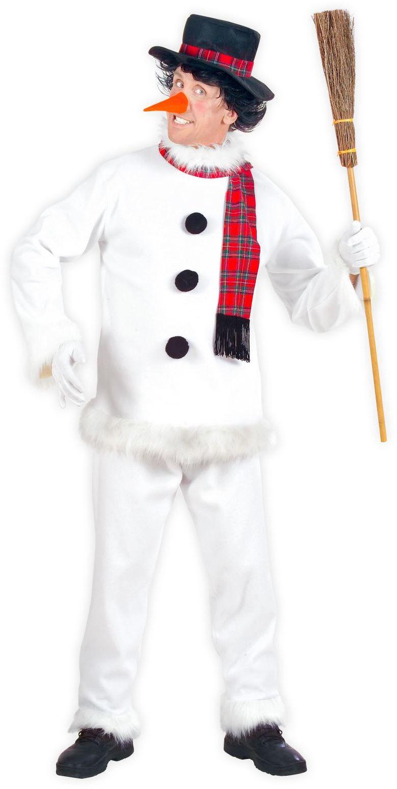 Sneeuwpop kostuum heren