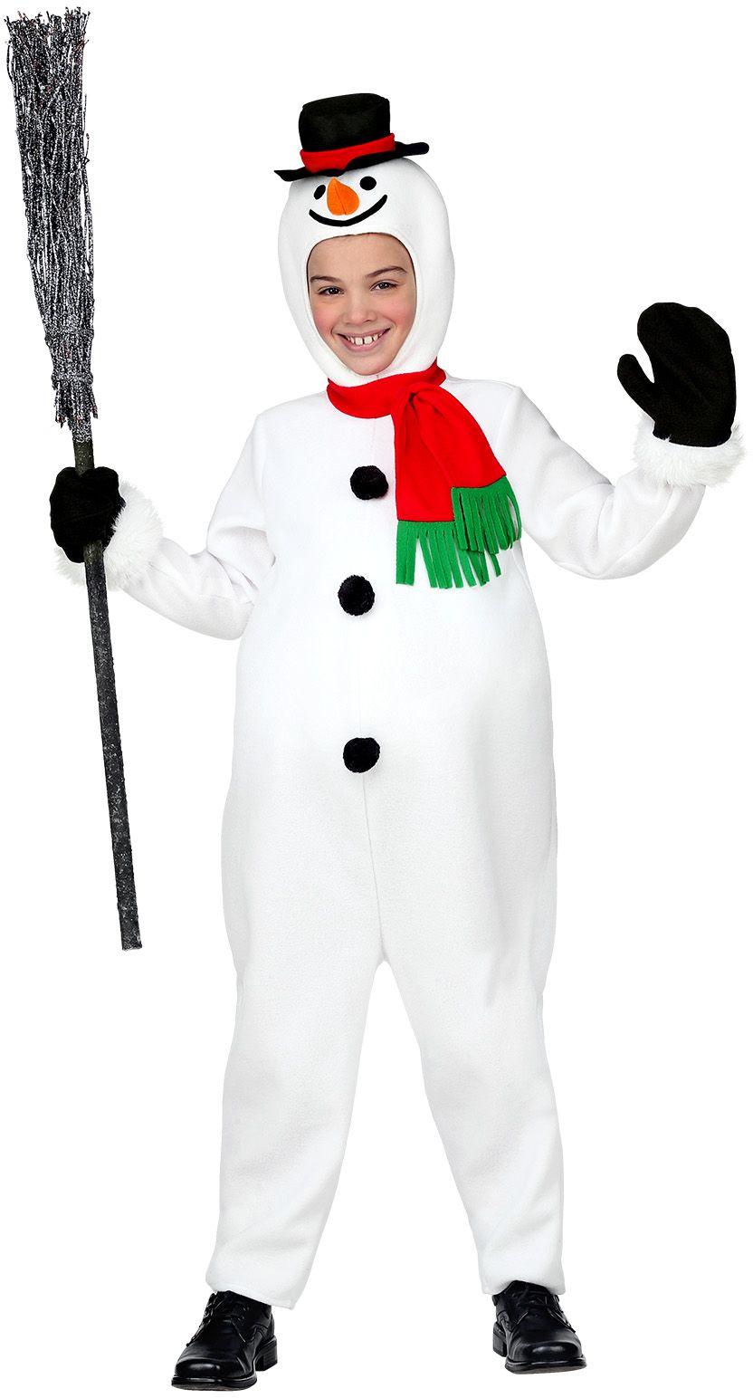 Sneeuwpop pak wit jongens